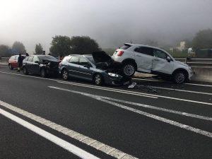 Colisión entre varios vehículos